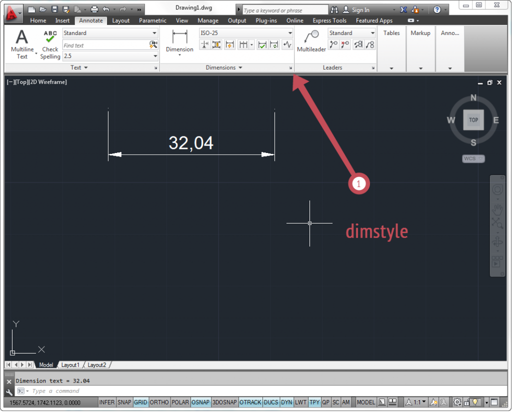 how to delete dimstyle in autocad