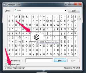 autocad-character-map